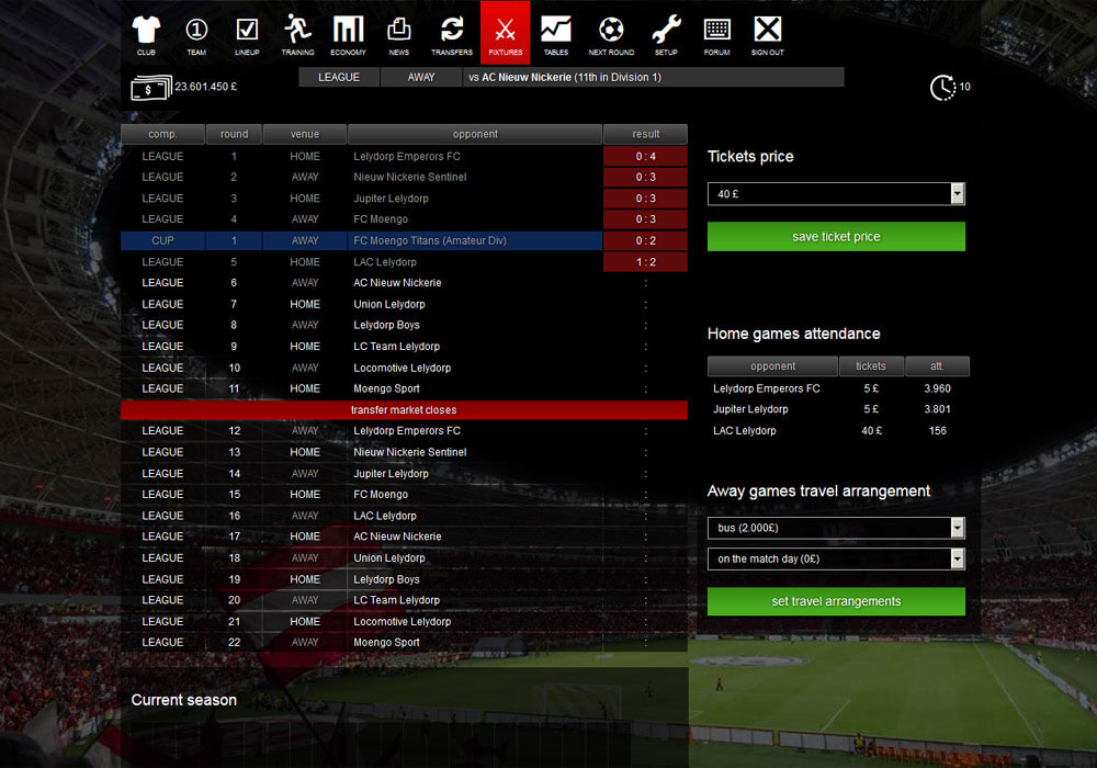 Online Fotboll Manager
